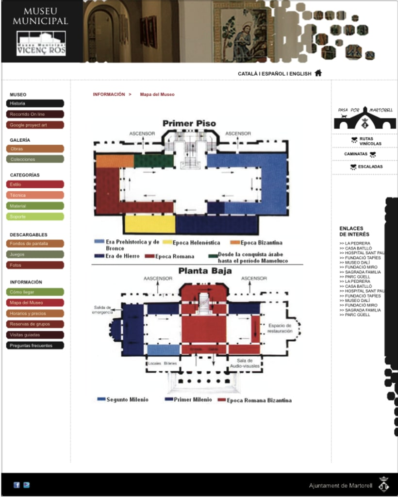 Diseño web Museo Vicenç Ros 2