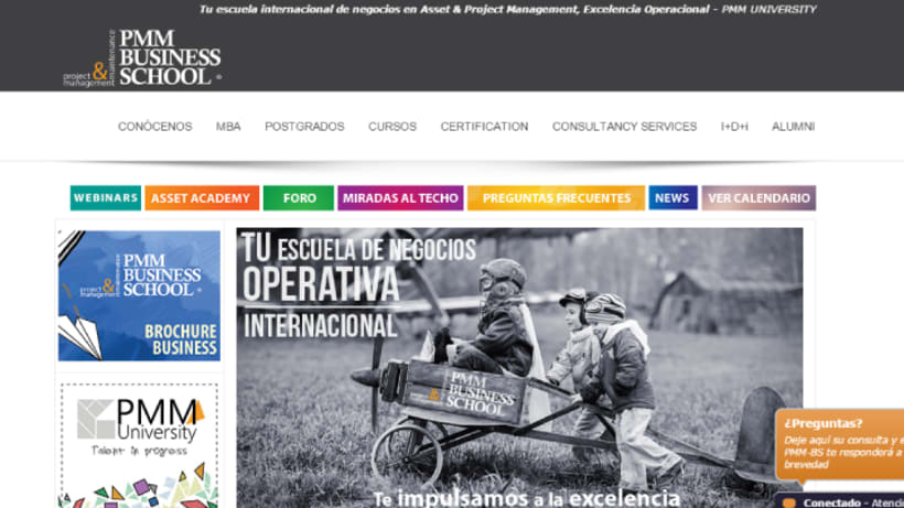 Diseño web PMM Business School 0
