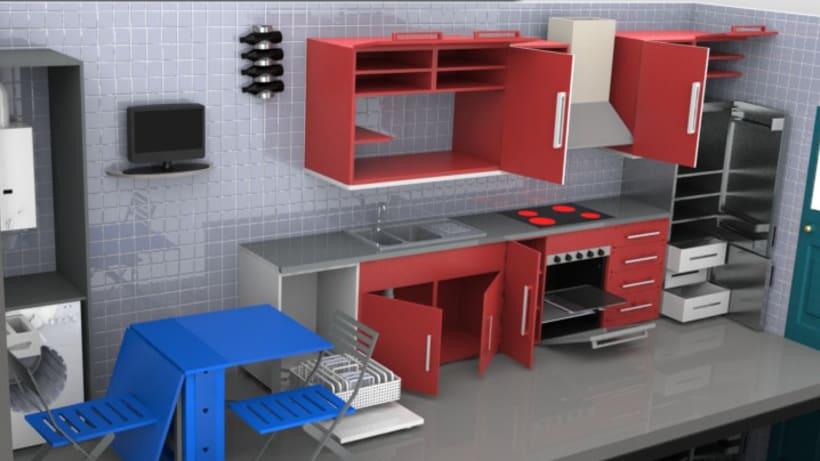 Diseño de cocina 3D 1