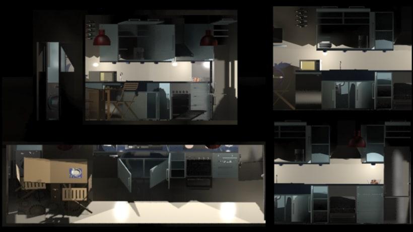 Diseño de cocina 3D 4