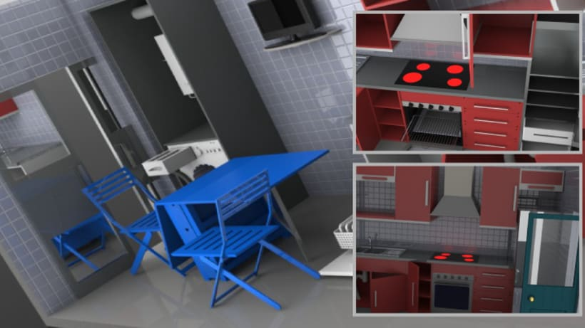 Diseño de cocina 3D 2