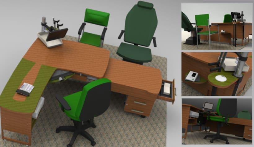 Diseño de mesa administrativa 4