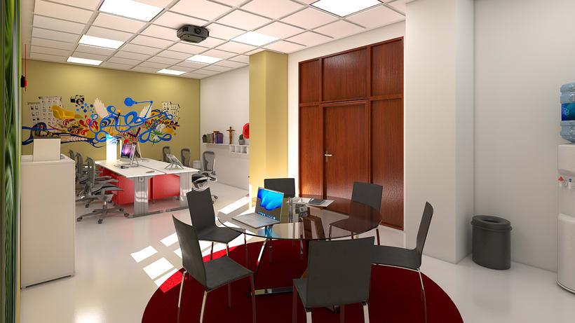 Estudio de diseño 3d interior 2