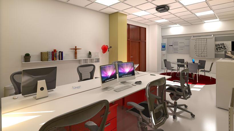 Estudio de diseño 3d interior 3