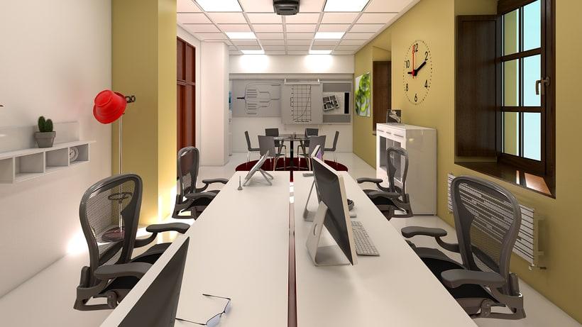 Estudio de diseño 3d interior 4