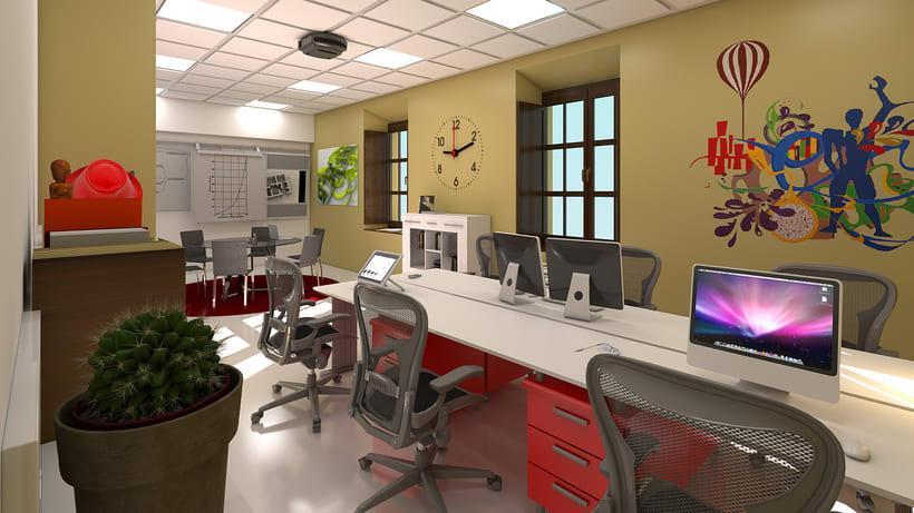 Estudio de diseño 3d interior 5