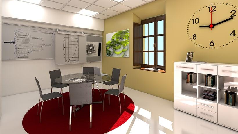 Estudio de diseño 3d interior 8