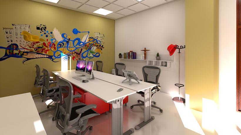 Estudio de diseño 3d interior 9