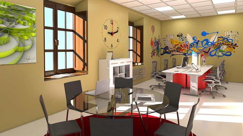 Estudio de diseño 3d interior 0