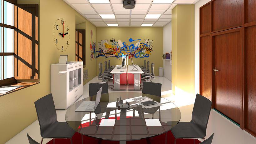 Estudio de diseño 3d interior 1