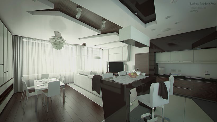 Remodelación de apartamentos en Moscow. Render y video 3d 1