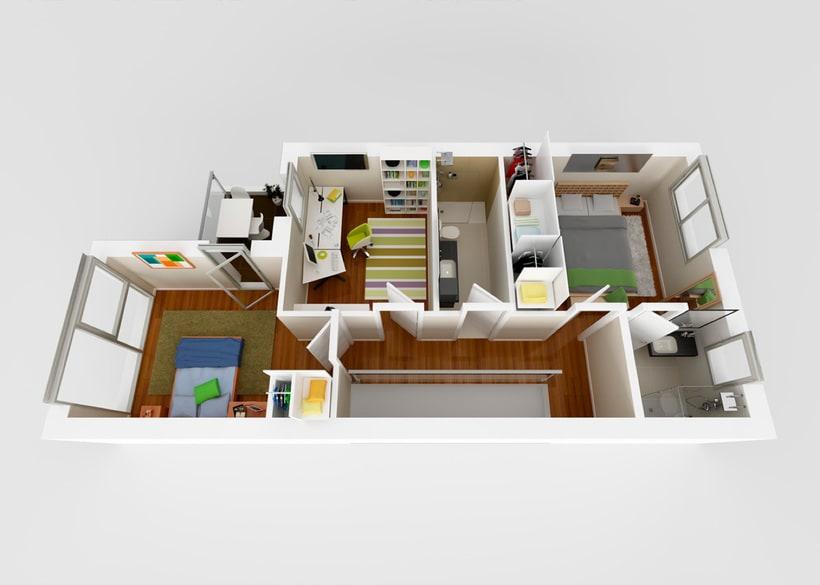 InfoArquitectura 3D - Promoción Inmobiliaria - Chalet 0