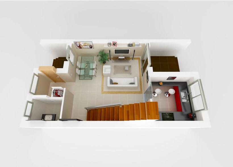 InfoArquitectura 3D - Promoción Inmobiliaria - Chalet 1