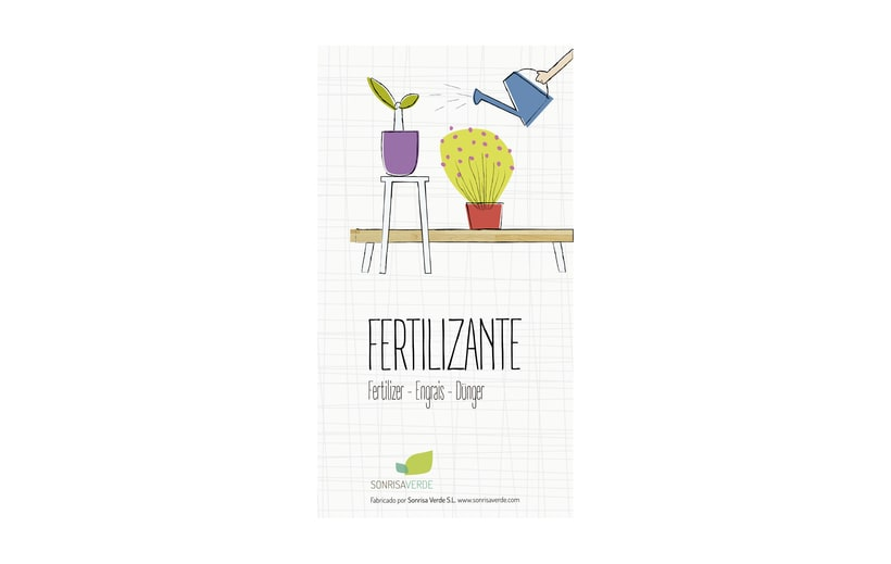 Logotipo, etiquetas y expositor para fertilizante 7
