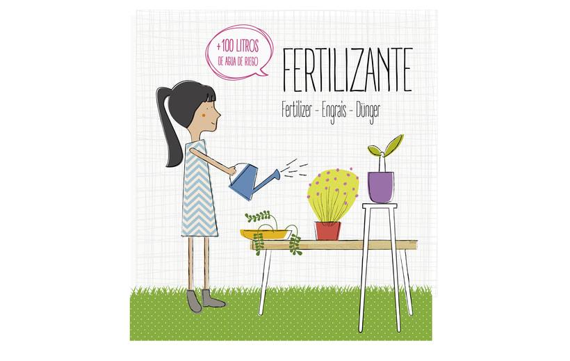 Logotipo, etiquetas y expositor para fertilizante 5