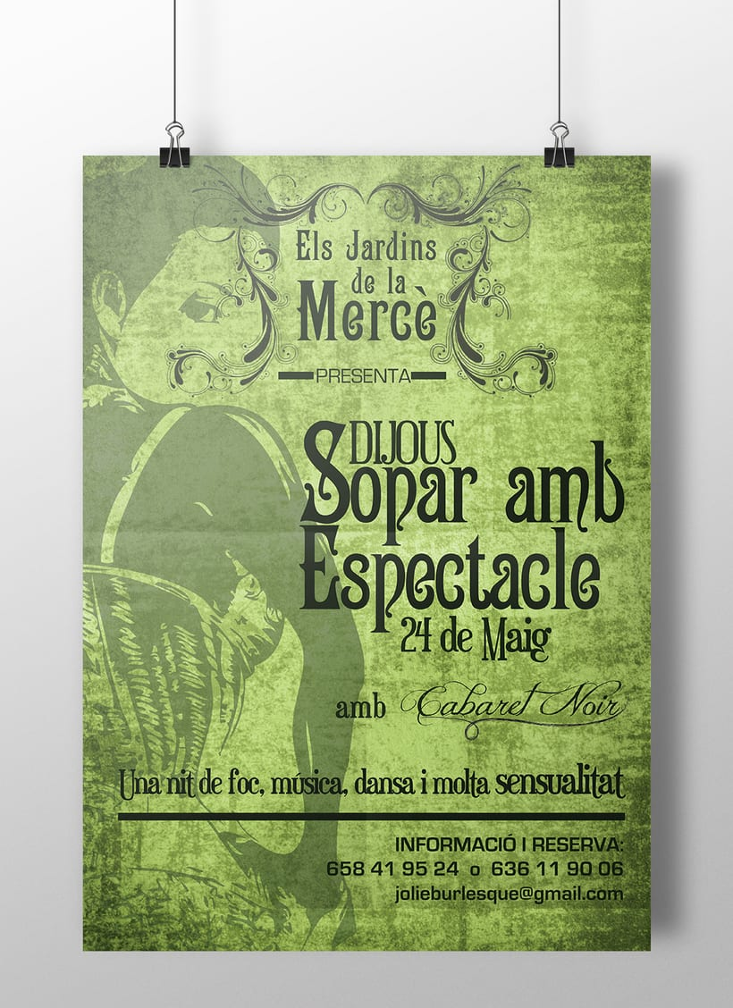 Posters Els jardins de la Mercè -1