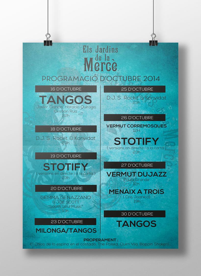 Posters Els jardins de la Mercè 1