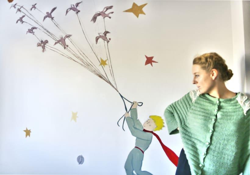 Mural Le Petit Prince -1