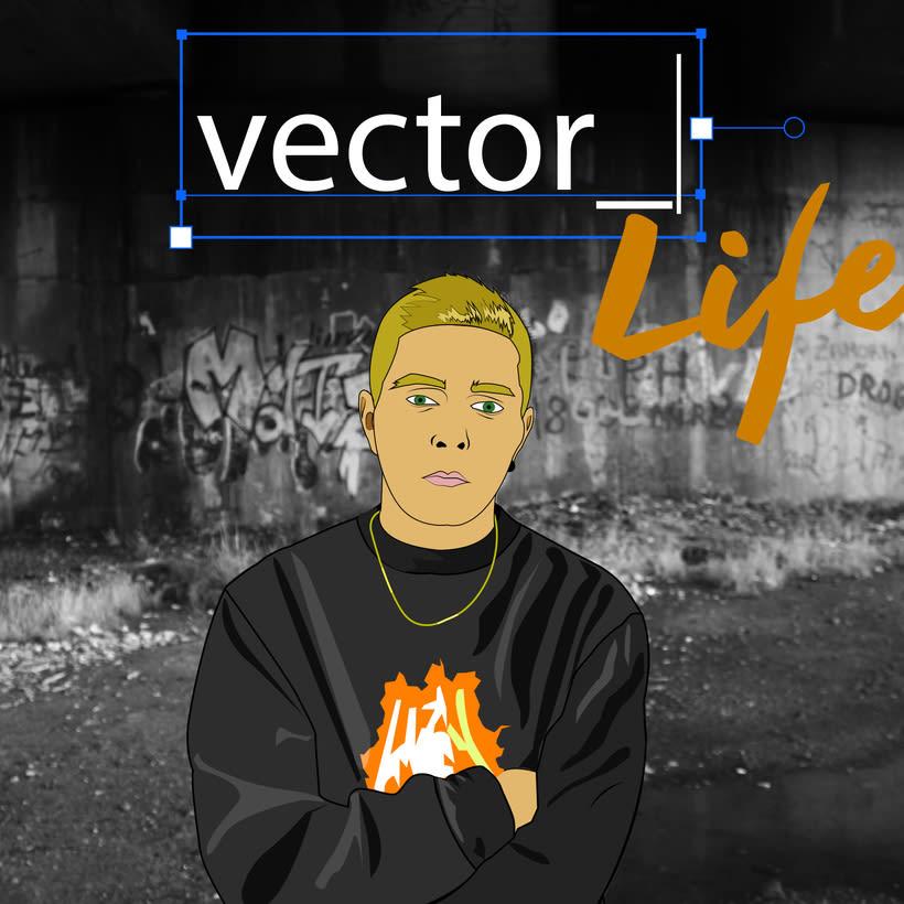 Vector with attitude -1