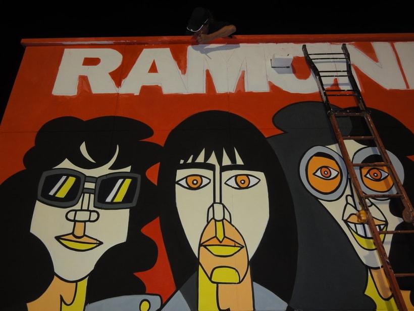 Mural RAMONES Murcia (Los Alcázares ) 3