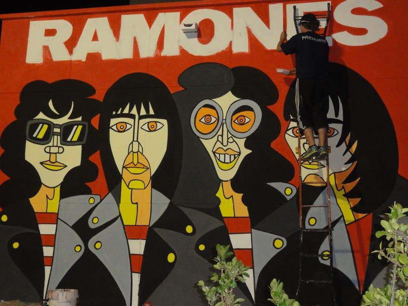 Mural RAMONES Murcia (Los Alcázares ) 5