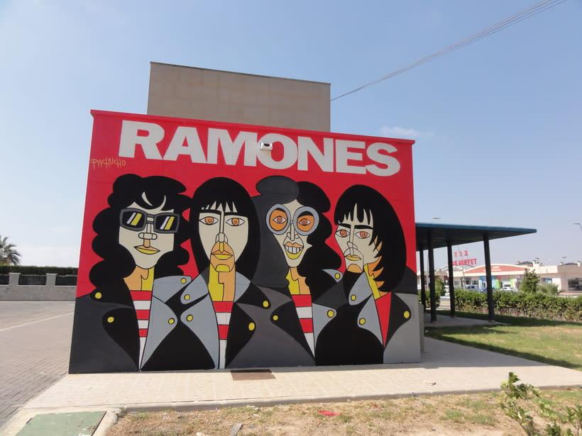 Mural RAMONES Murcia (Los Alcázares ) 6