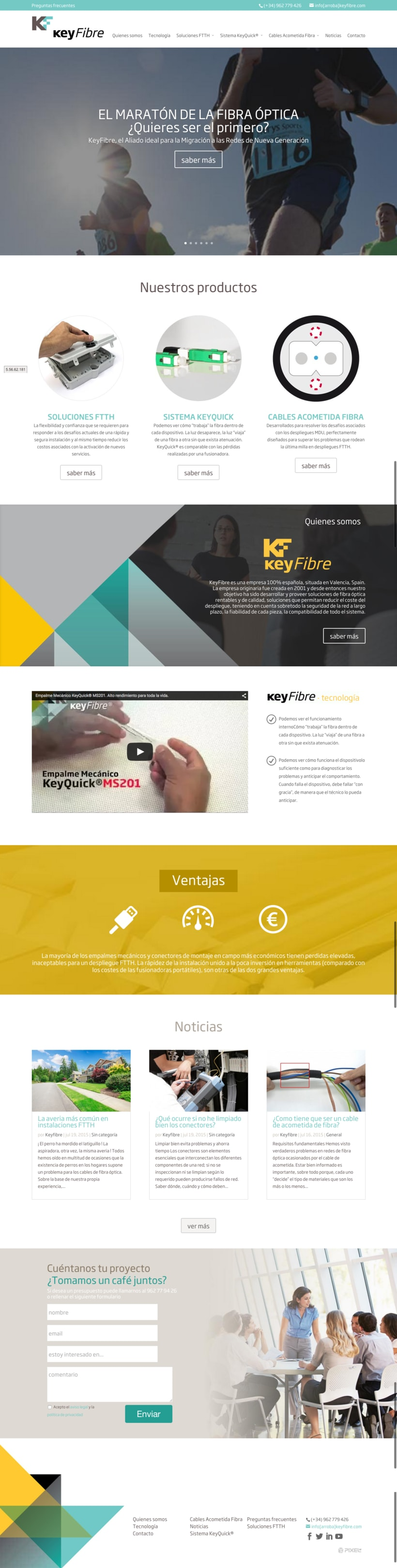 Web corporativa Keyfibre -1