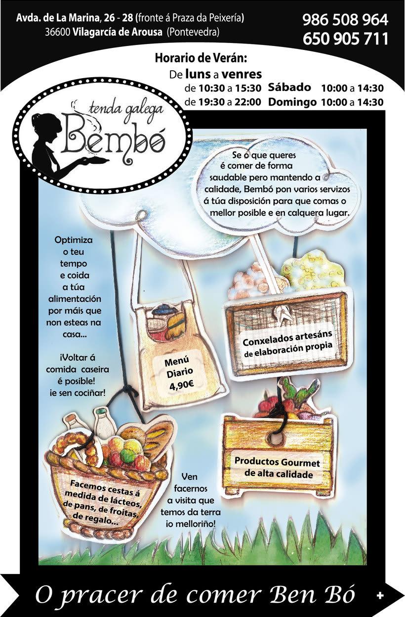 Material Publicitario para Tenda Galega Bembó -1