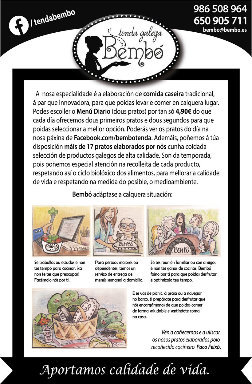 Material Publicitario para Tenda Galega Bembó 0