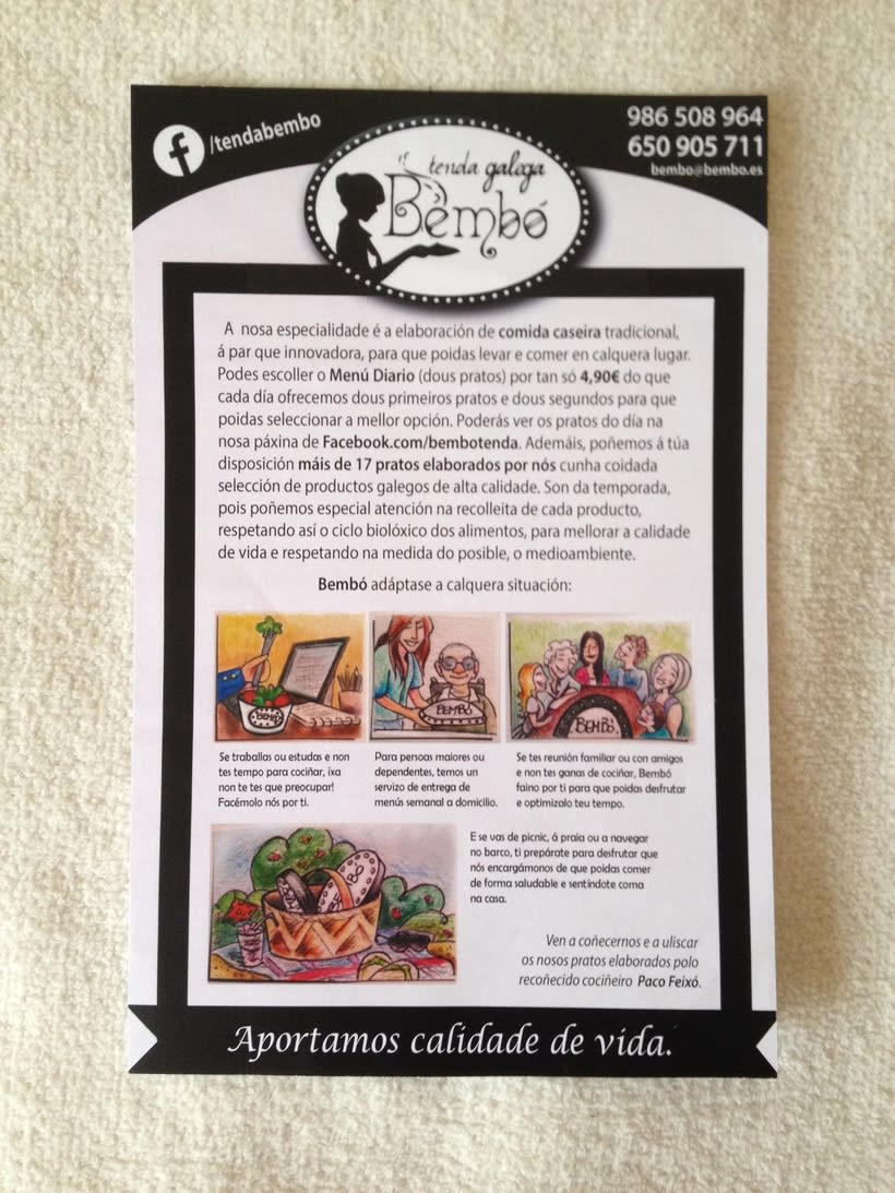 Material Publicitario para Tenda Galega Bembó 2