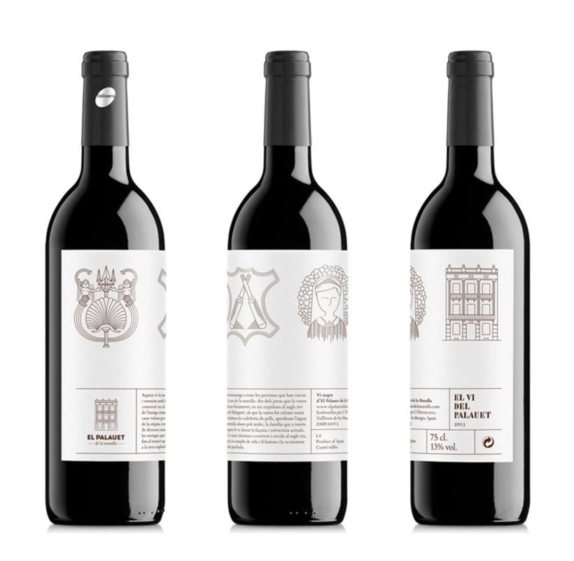 Etiqueta de vino de El Palauet 1