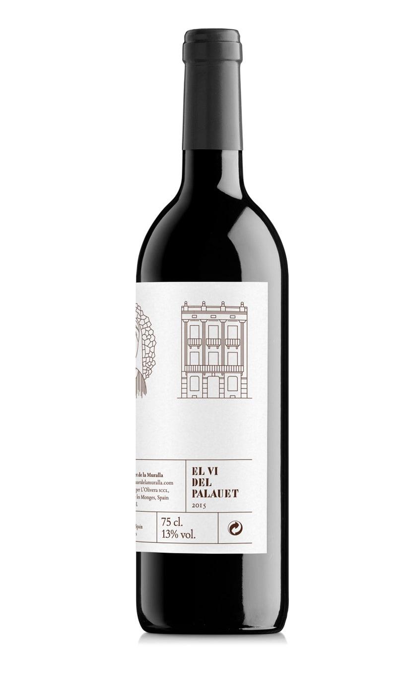 Etiqueta de vino de El Palauet 2
