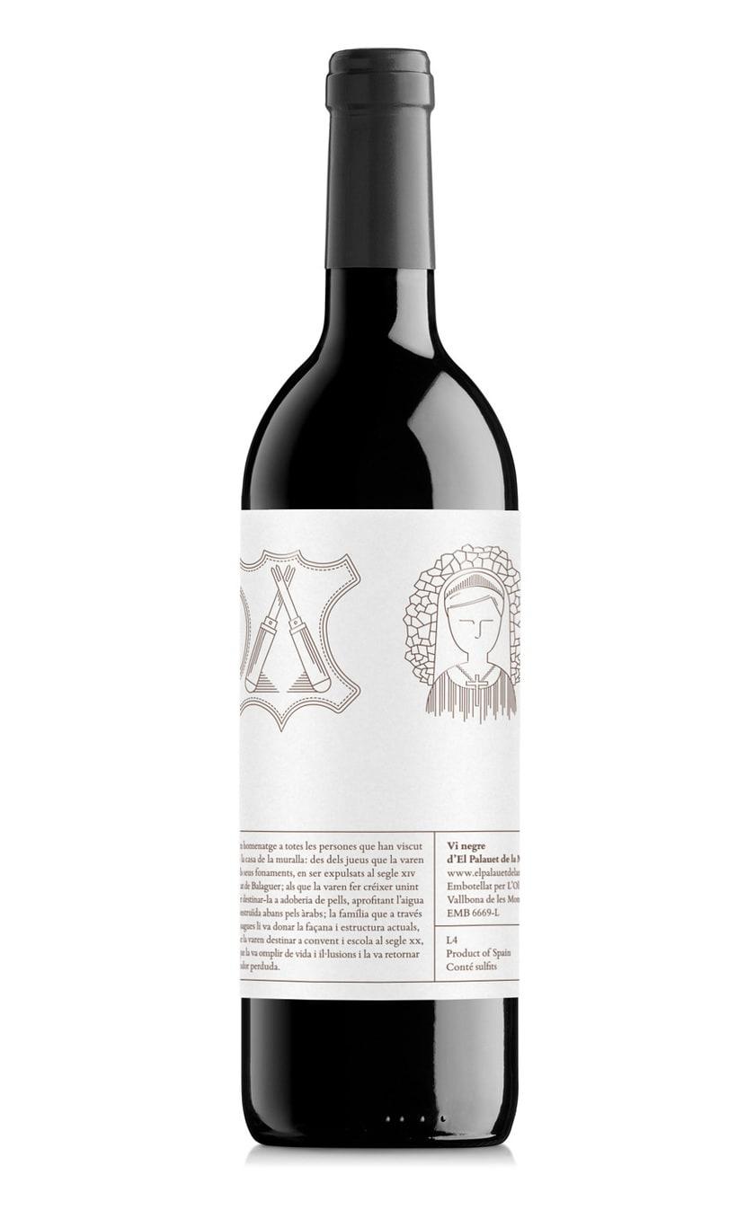 Etiqueta de vino de El Palauet 4