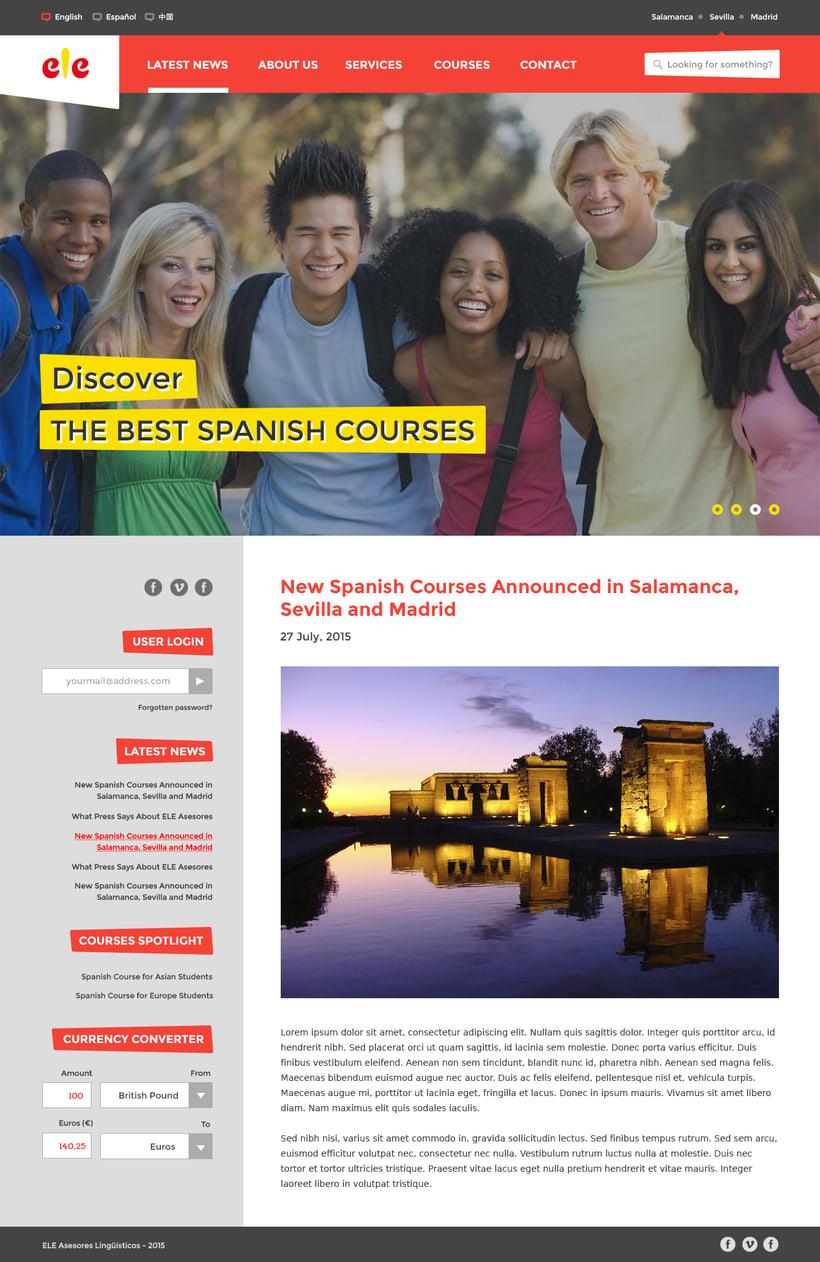 ELE Asesores Website 0