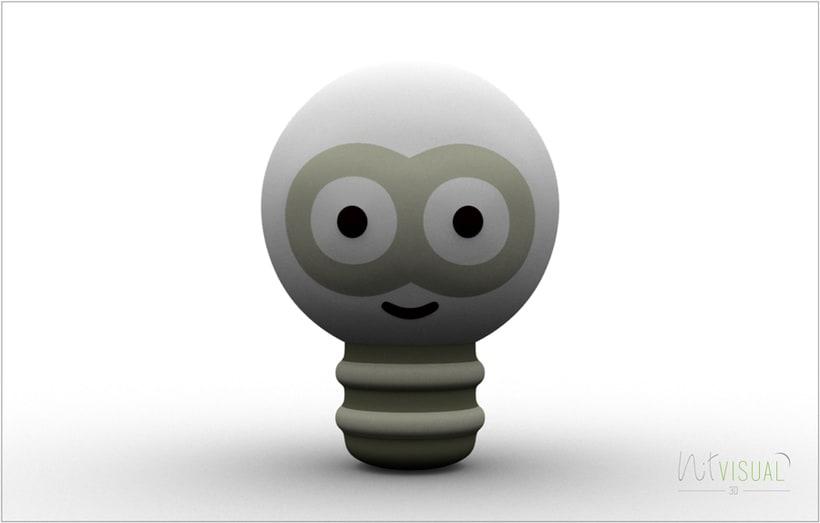 personaje Bombilla 3D 1
