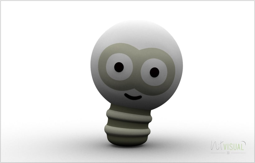 personaje Bombilla 3D 4