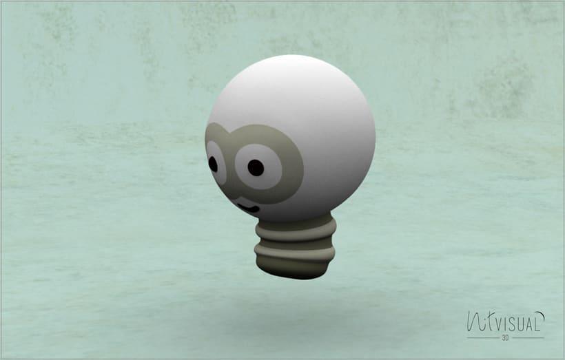 personaje Bombilla 3D 5