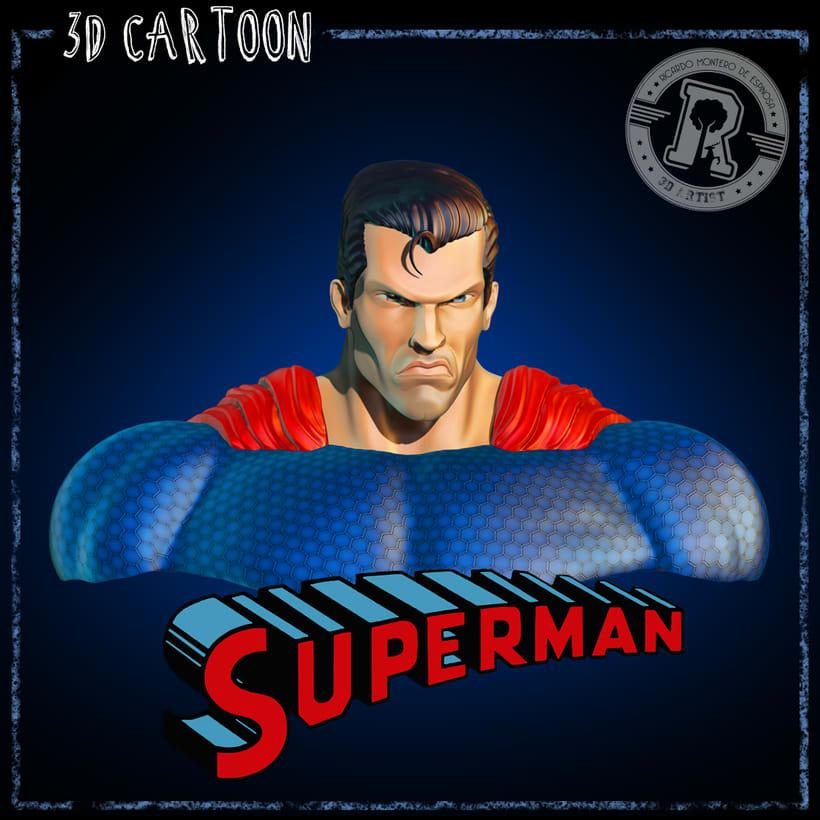 Proyecto Final del Curso - Busto de Superman, Busto de Frankenstein y Busto de Malefica 0
