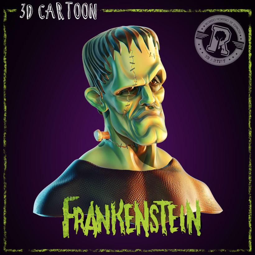 Proyecto Final del Curso - Busto de Superman, Busto de Frankenstein y Busto de Malefica 1