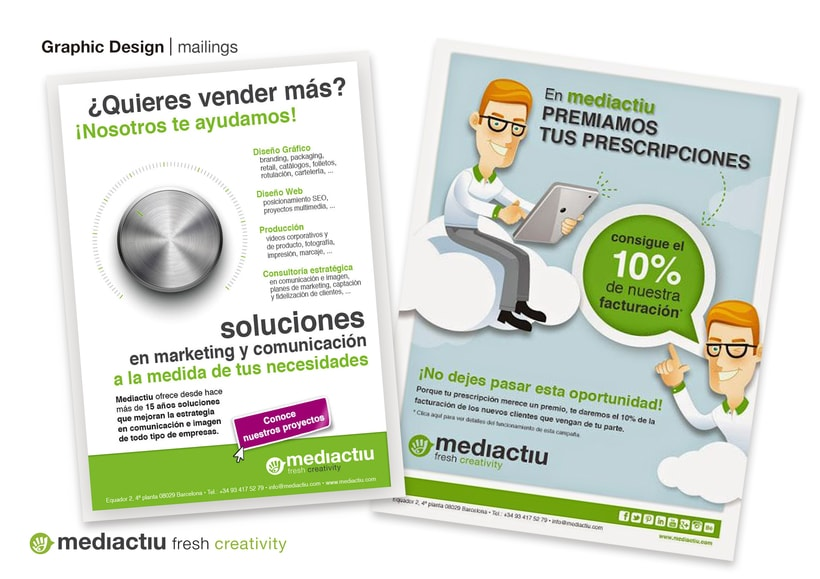 Correos corporativos y campañas de marketing de mediactiu 5