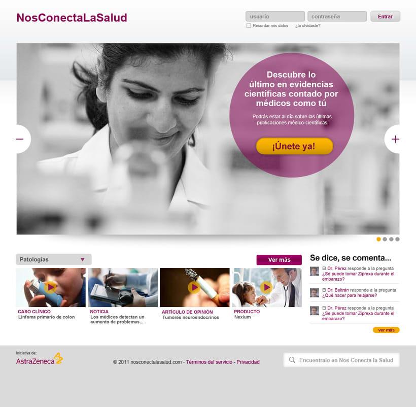 Nos conecta la salud (portal web) 0