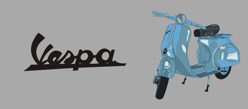 Vectorial illustration - Vespa -1