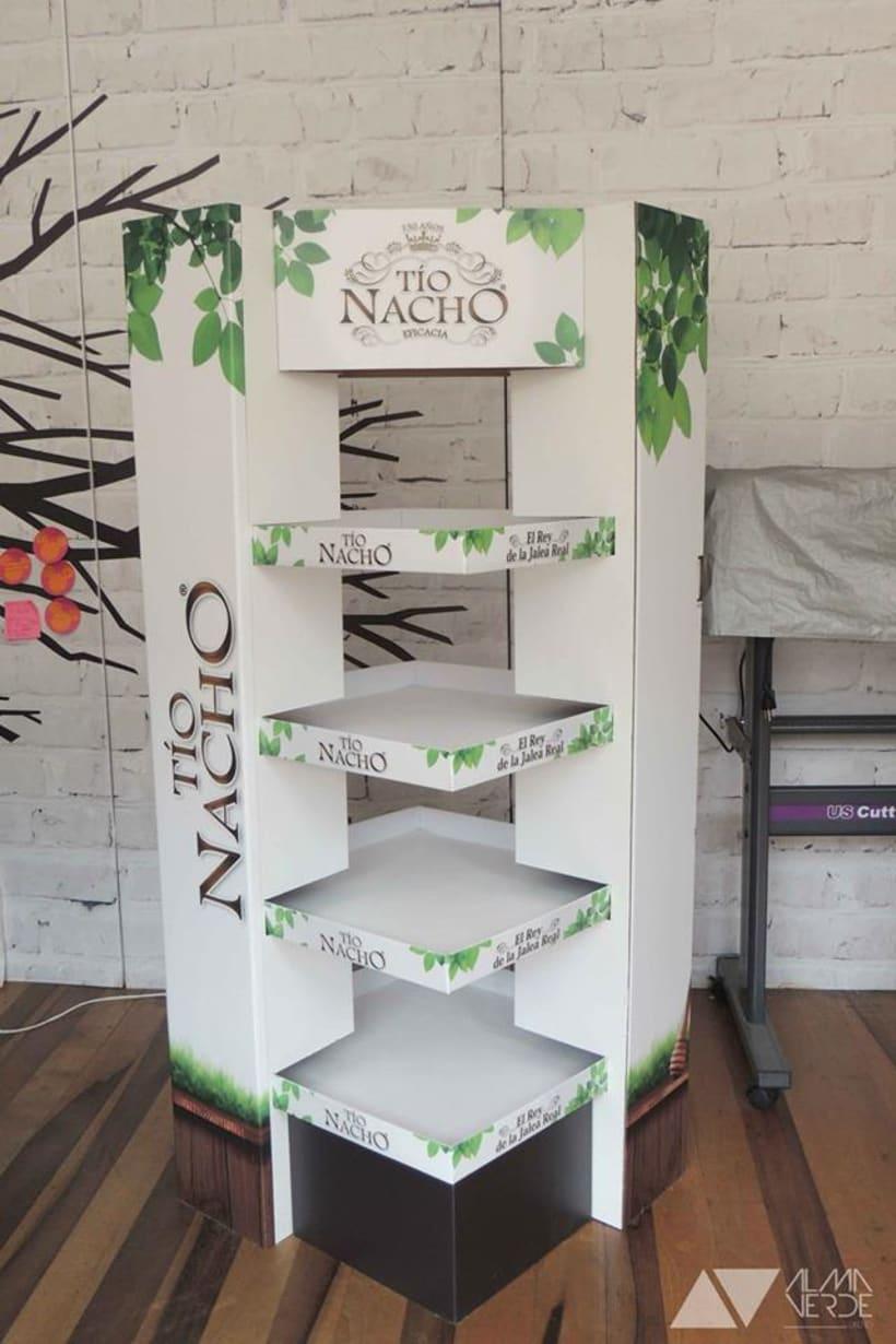 Marca Tio Nacho - Displays para almacenes de cadena. 1