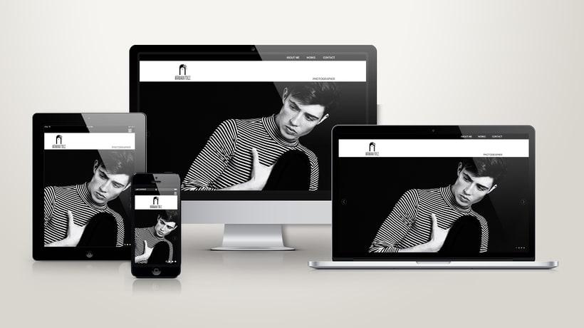 "Responsive Website ""Bárbara Fdez. | Photographer"" 1"