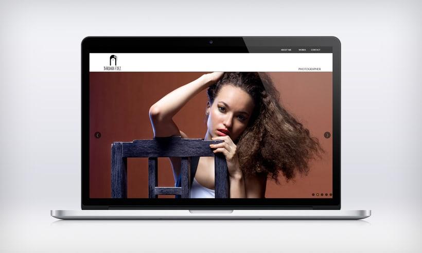 "Responsive Website ""Bárbara Fdez. | Photographer"" 4"