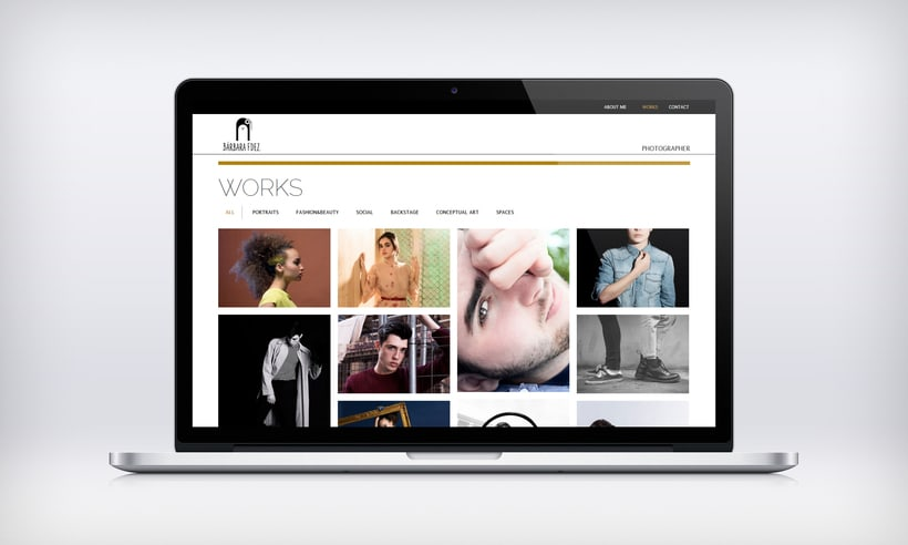 "Responsive Website ""Bárbara Fdez. | Photographer"" 5"