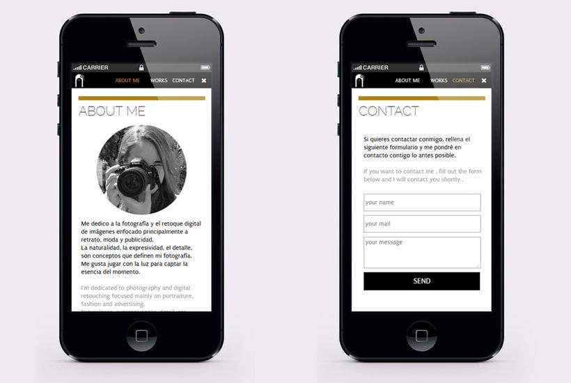 "Responsive Website ""Bárbara Fdez. | Photographer"" 12"