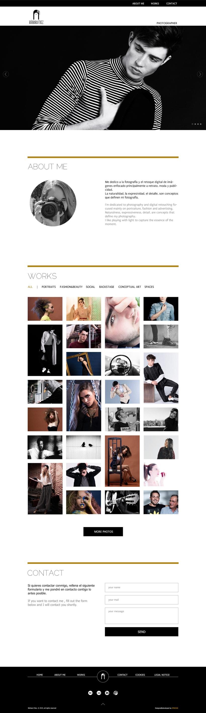 "Responsive Website ""Bárbara Fdez. | Photographer"" 14"