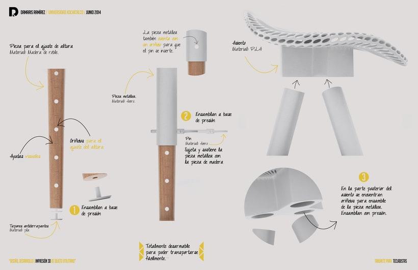 Taburete para tecladistas impreso en 3D  1