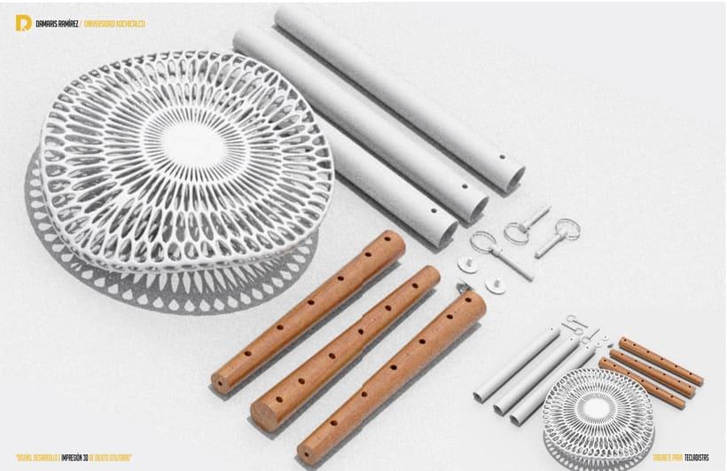Taburete para tecladistas impreso en 3D  2